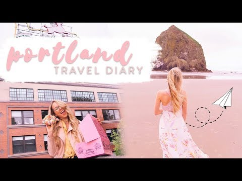 PORTLAND TRAVEL DIARY | Yummy food, Cannon Beach, & cute bunnies! ✨