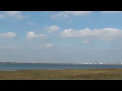 Vulcan XH558 Over The Swale Estuary Oct 11th 2015