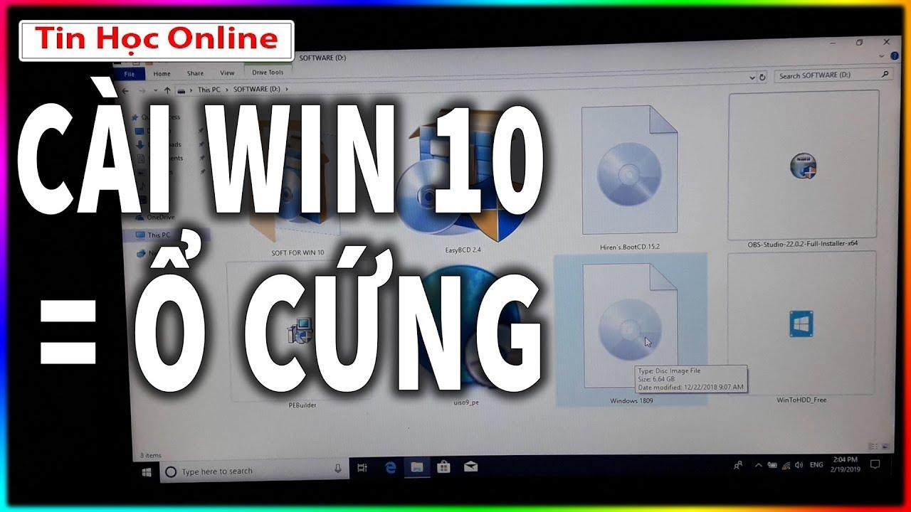Cài win 10 bằng ổ cứng cực kỳ dễ xem là làm được (Link dưới mô tả nhé)