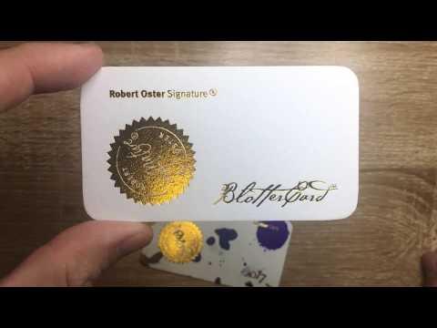 Fountain Pen Accessories: Robert Oster Blotter Card