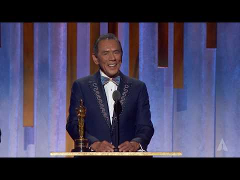 Wes Studi receives an Honorary Award at the 2019 Governors Awards