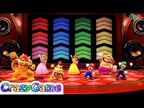 Super Mario Party - All Rhythm Minigames (Normal, Remix & Hard) Gameplay