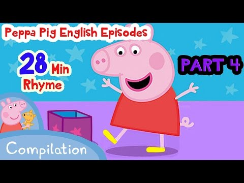 Peppa Pig English Episodes ♪♪ Full Episodes ♪♪ 34 min Rhyme ♪♪ Part 4 ♪♪ Home