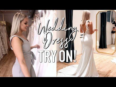 TRYING ON WEDDING DRESSES  - I FOUND MY DRESS?! thumbnail