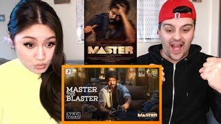 Master - Master the Blaster REACTION!! | Thalapathy Vijay | AnirudhRavichander | LokeshKanagaraj