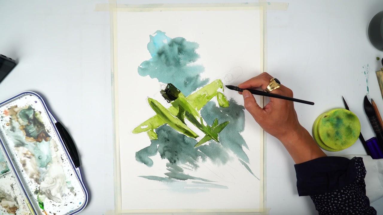 Famous Artist Drawing Light Plane Art Exhibition 2021