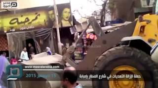 مصر العربية   حملة لإزالة التعديات في شارع المطار بإمبابة