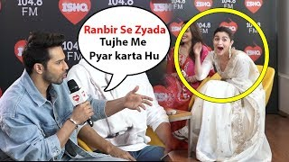 Varun Dhawan Cute Fight With Alia Bhatt, Alia And Varun together With kalank Movie Promotion