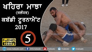 KHAIRA MAJJA (Kapurthala) || KABADDI TOURNAMENT - 2017 | Full HD | Part 5th