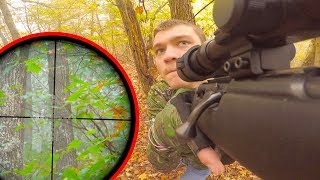 Squirrel Hunting with 22lr (SCOPE CAM)