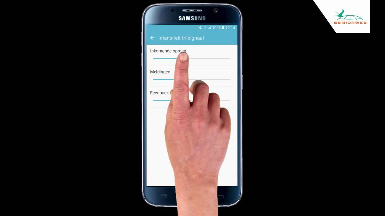 Samsung Galaxy S6: trilfunctie aanzetten