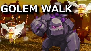 Strategy Guide: GOLEM WALK   New Attack Strategy to Take Down TH11 Bases   TH10 vs TH11 War Attack