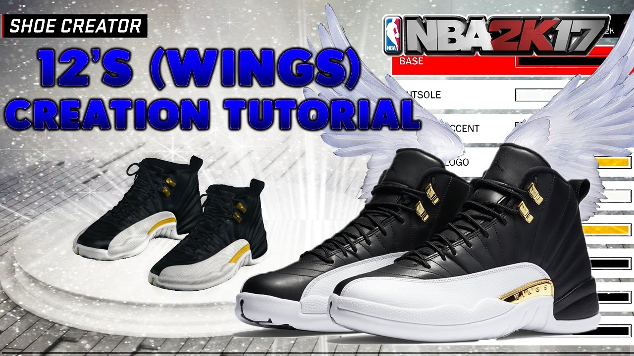 HOW TO GET RETRO 12's Wings Jordans Shoe Easiest Way To Make Retro's  Tutorial NBA 2K17 Mypark OVO - YouTube