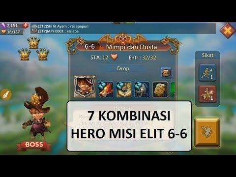7 KOMBINASI HERO MISI ELITE 6-6 (Mission ELITE 6-6) _ LORDS MOBILE