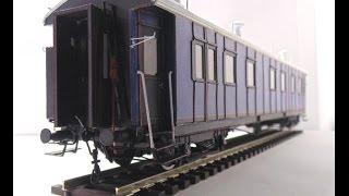 Обзор бумажной модели, Пассажирского 20-ти метрового вагона I класса, 1/87, Modeller