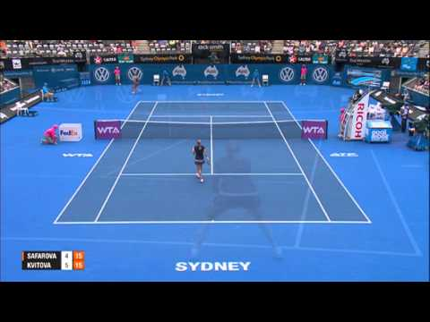 Lucie SAFAROVA (CZE) vs Petra KVITOVA (CZE) HIGHLIGHTS Apia International Sydney 2014