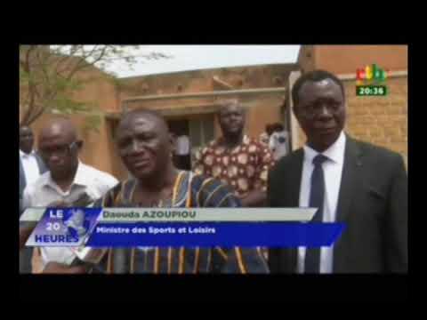 RTB / Visite du Ministre des sports et des loisirs dans la région de l'est à Fada N'Gourma
