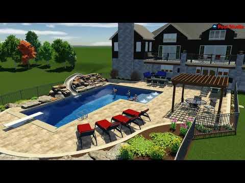 Video Tour of a Custom EL shaped Pool in Erin, WI