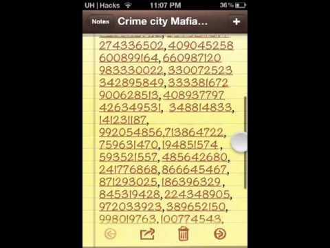 100+ Crime City Mafia Codes