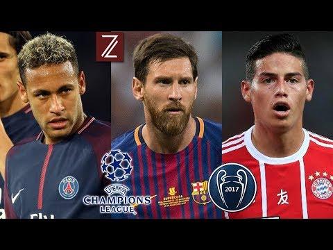 Los 10 Candidatos a ganar la Champions League 2017/18