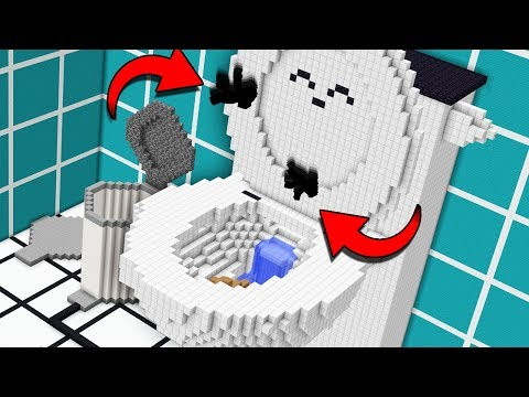 Getting flushed down a giant minecraft toilet - Ржачные