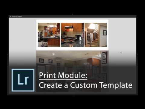 Lightroom Cc 2015 Create A Custom Print Module Template