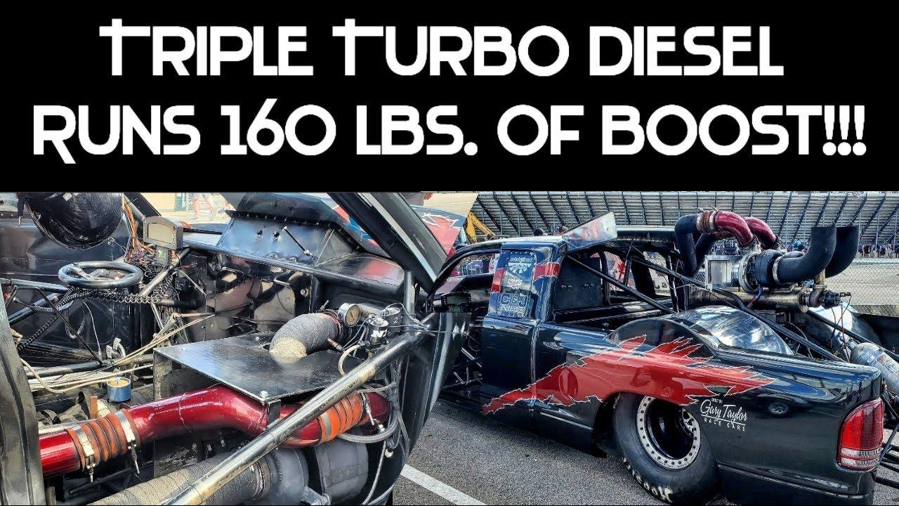 Triple Turbo Diesel Truck Runs 160 lbs of Boost!!!