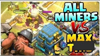277 MINERS vs MAX TOWN HALL 12! Mass Miner Attack Strategy - Clash of Clans