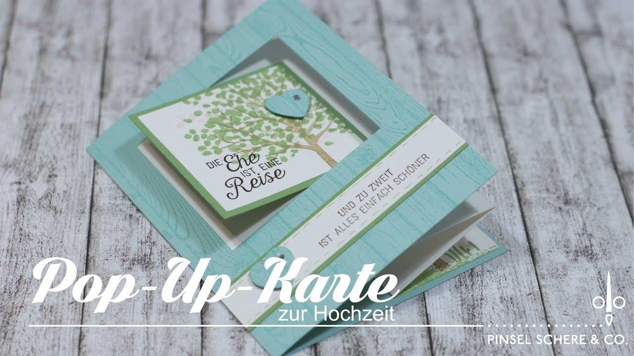 Pop Up Karte Zur Hochzeit Besondere Kartenformen Tutorial