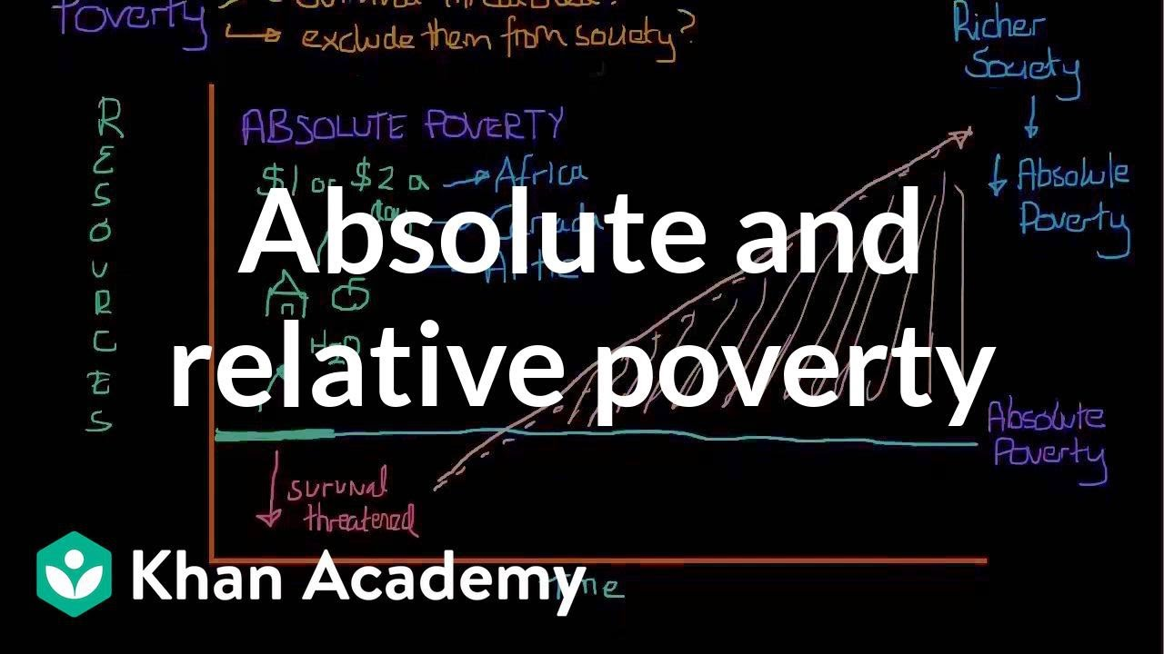 absolute and relative poverty essay Of defining and measuring poverty (24) improve this essay (15/20) absolute  it  is relative poverty as the definitions are dependant on what is normal and.