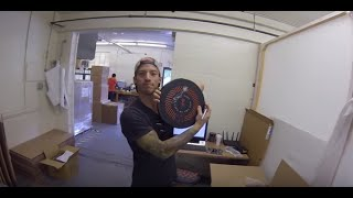 Josh Dun visits the SJC Drums shop June 17, 2016