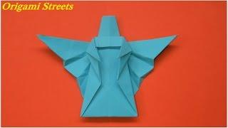 Как сделать ангела из бумаги. Оригами ангел. Origami angel