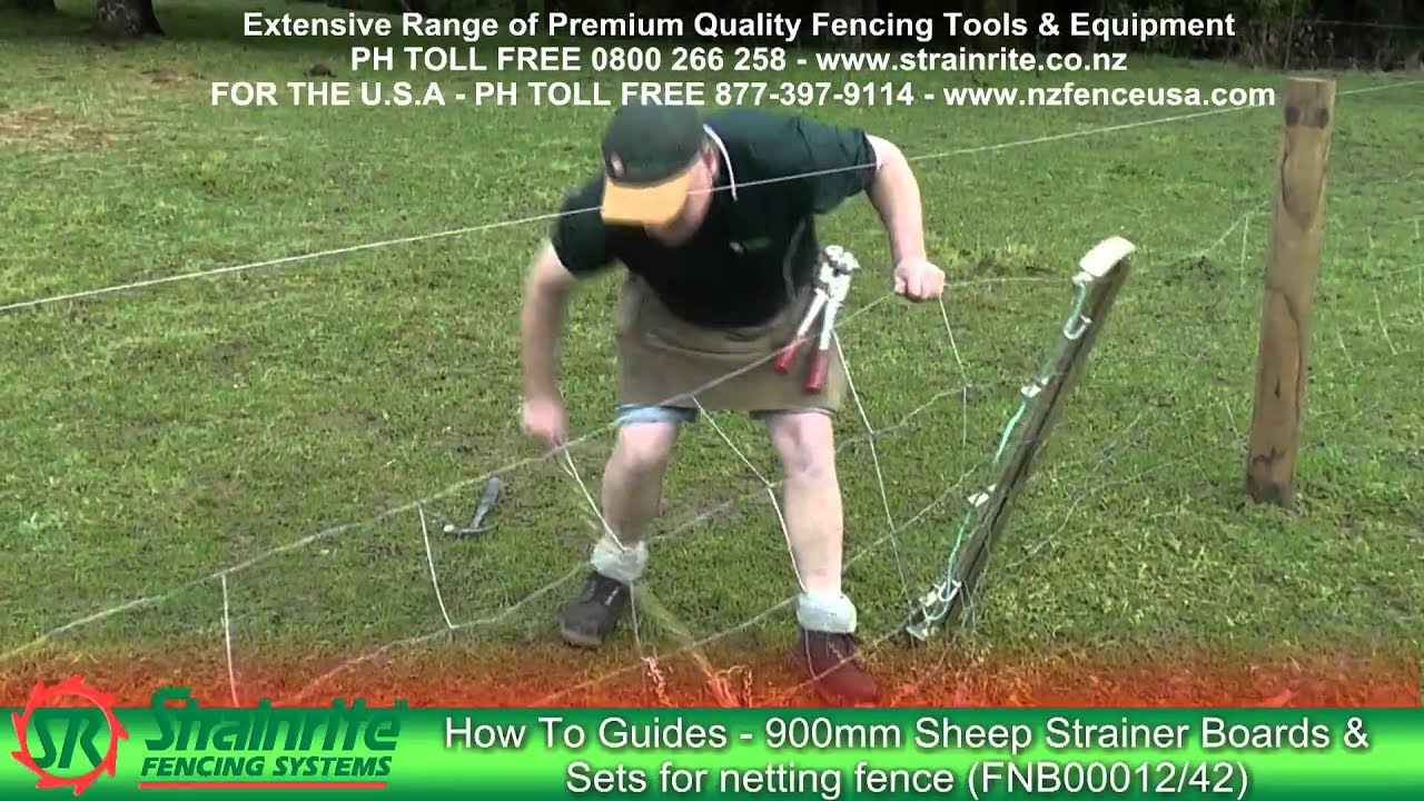 Strainrite Fencing Guides 900mm Sheep Strainer Boards