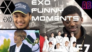 EXO Funny Moments Reaction (English Sub)  - Americans React To Kpop 🔥🔥