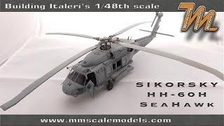 Bâtiment Italeri du 1/48 HH-60H Sea Hawk maquette hélicoptère