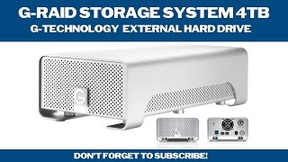 G-Raid Storage System 4TB - External Hard Drive (Unboxing & Review)