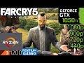 Far Cry 5 - GTX 1050 ti - G4560 - Ryzen 3 - 1080p - 900p - 720p - 1440p - benchmark