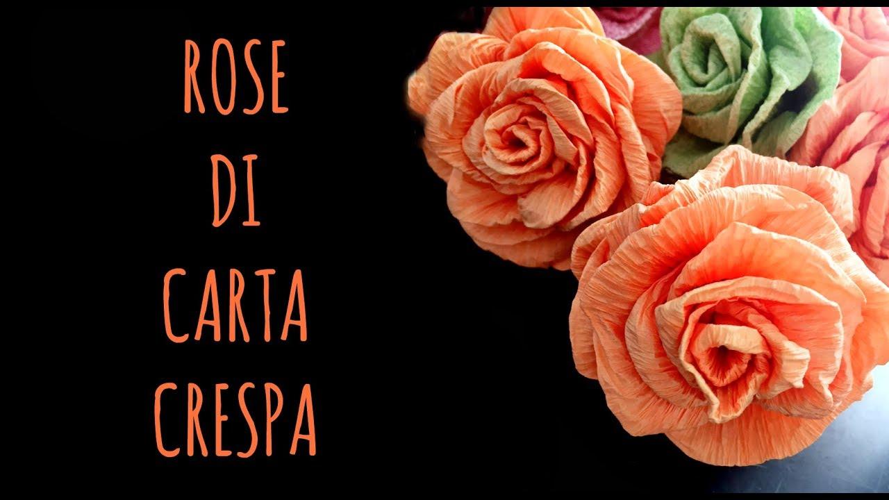 Rose Di Carta Crespa Facilissime Fiori Di Carta Arte Per Te