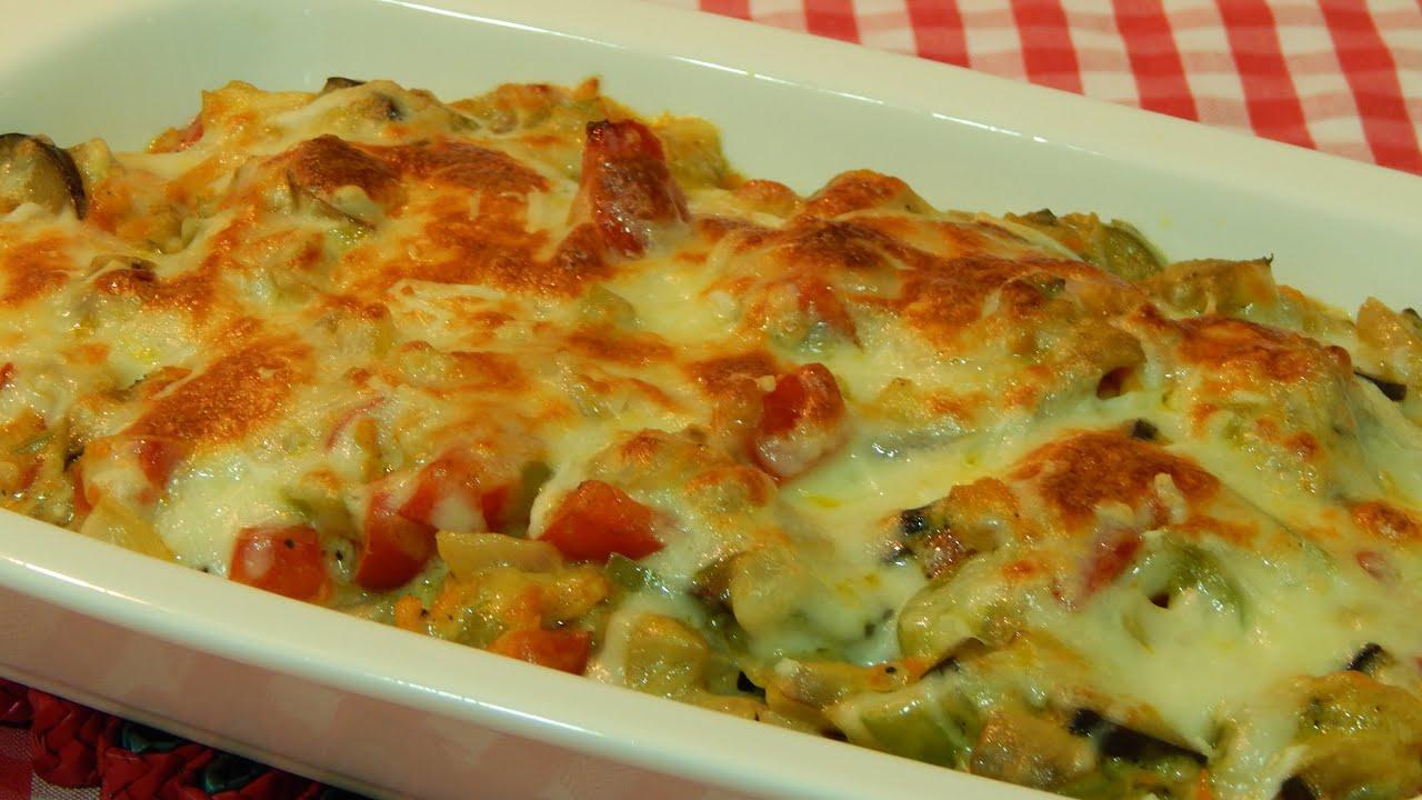 Verduras gratinadas al horno con bechamel youtube - Salsa para verduras al horno ...