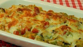 Verduras gratinadas al horno con bechamel
