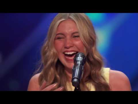 Brennley Browns Audition Was Her Second in Front of Simon   Americas Got Talent 2016 Extra