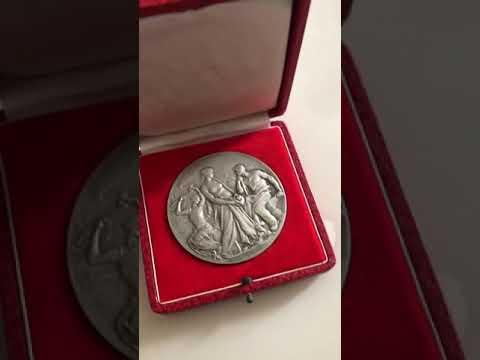 Rare médaille cuivre argent chambre de commerce de Saint Étienne  de 1956-1964