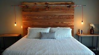 Кровати с деревянным изголовьем для модной спальни(В современном мире, где доминируют блестящие полированные поверхности, бетон, камень и стекло, в виде декор..., 2015-04-21T07:24:48.000Z)