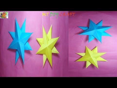 MT DIY Craft : How to Make Paper DIY Christmas Star || Easy DIY Christmas Star || 3D Star |