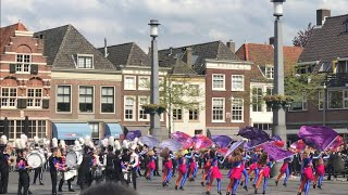 Corps Jubal op Statenplein, Dordrecht op Koningsdag 2018