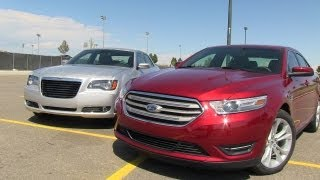 2013 Ford Taurus vs Chrysler 300 S AWD Mile High Mashup Review