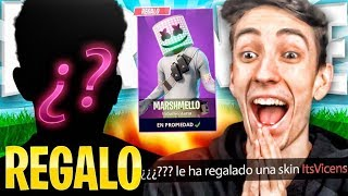 A MEMBER OF THE SALCHICHON SCHOOL GIVES me MARSHMELLO SKIN FOR LOSING A CHALLENGE IN FORTNITE