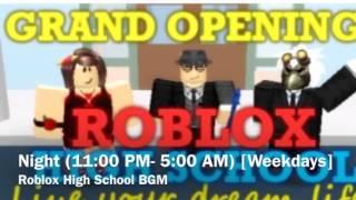 Roblox High School BGM- Night (Weekdays)