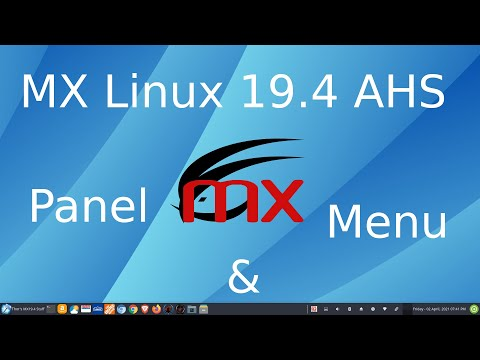 MX Linux 19.4 Xfce Panel And Menu Tips