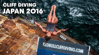 World Class Cliff Diving from Japan's Sandanbeki Cliffs | Cliff Diving World Series 2016
